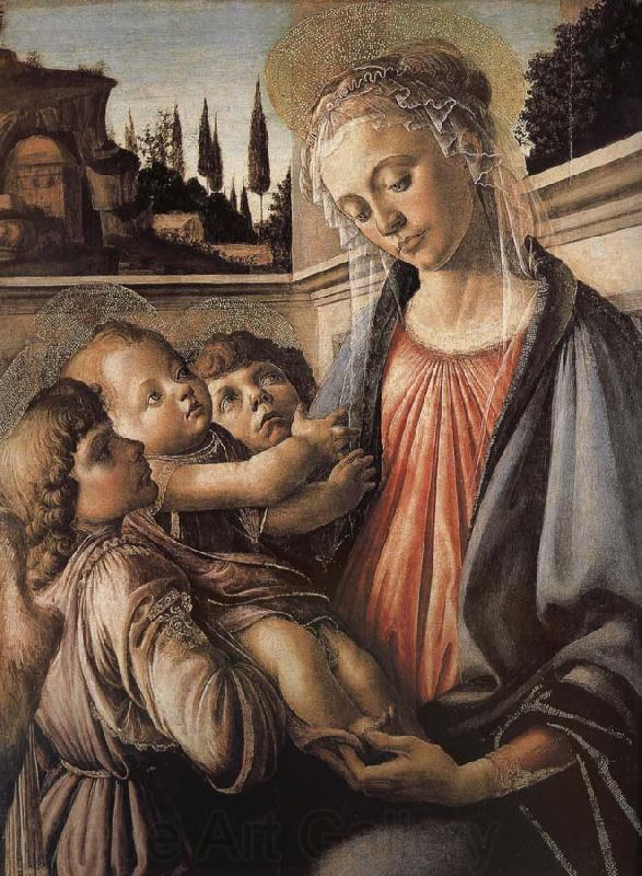 Sandro Botticelli Our Lady of Angels with the two sub