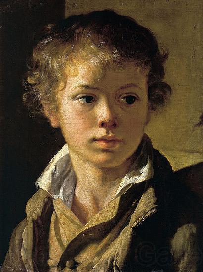 Vasily Tropinin Portrait of Arseny Tropinin, son of the artist,