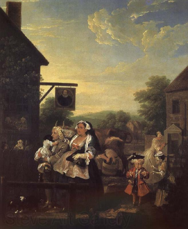William Hogarth Four hours a day in the evening