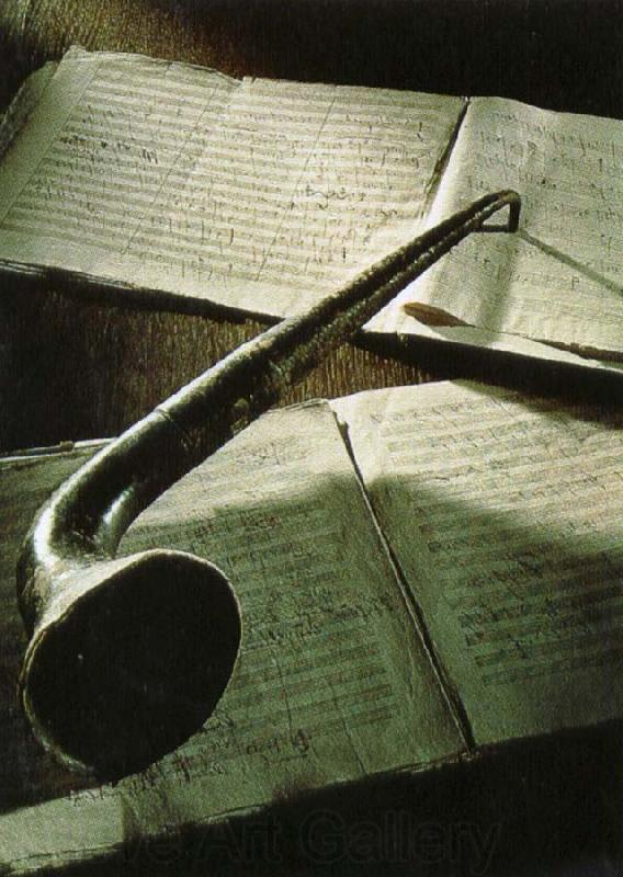 robert schumann beethoven s ear trumpet lying on the manuscript of his eroica symphony