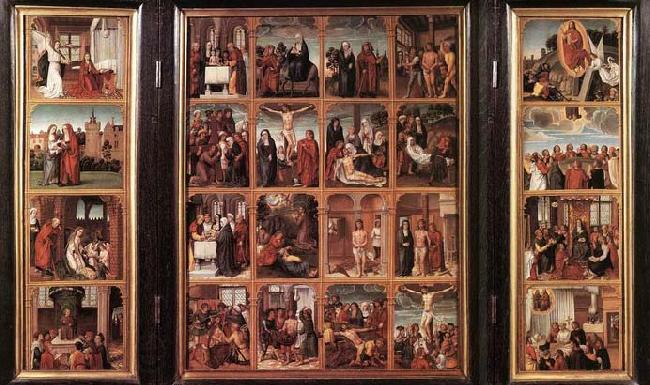 unknow artist Triptych with Scenes from the Life of Christ