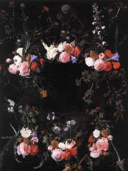 unknow artist Garland of Flowers