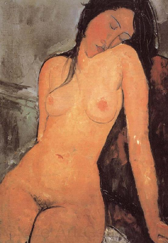 Amedeo Modigliani seated female nude