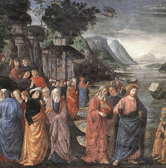 GHIRLANDAIO, Domenico Calling of the First Apostles