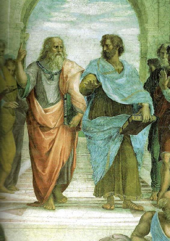 Raphael plato and aristotle detail of the school of athens