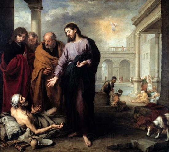Bartolome Esteban Murillo Christ healing the Paralytic at the Pool of Bethesda