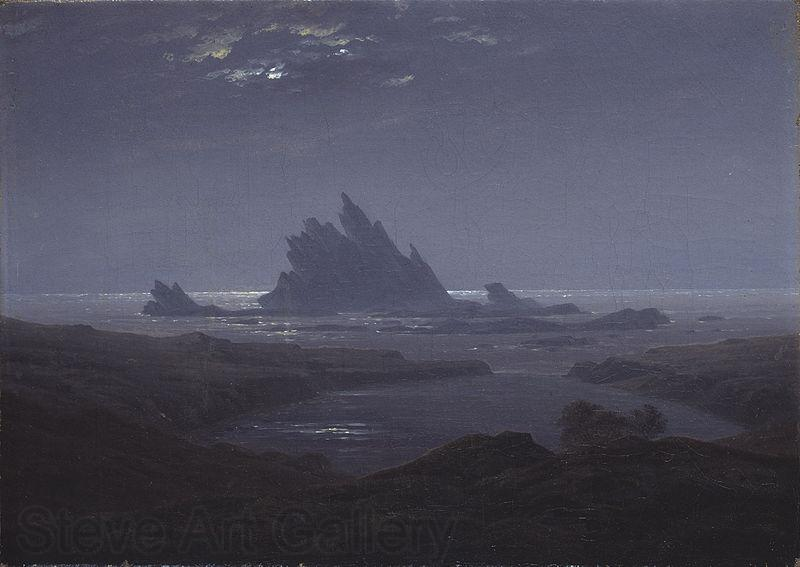 Caspar David Friedrich ReefsbytheSeashore