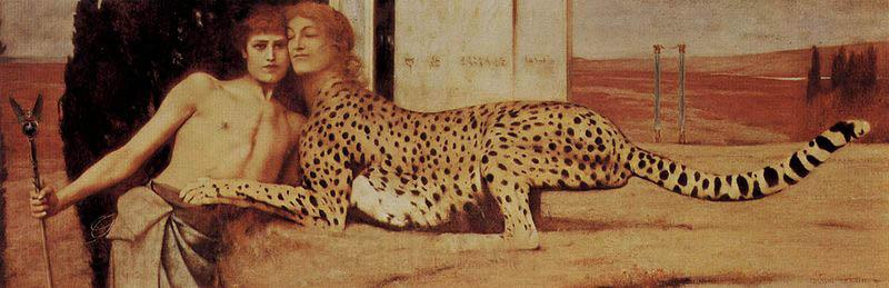 Fernand Khnopff The Sphinx, or, The Caresses