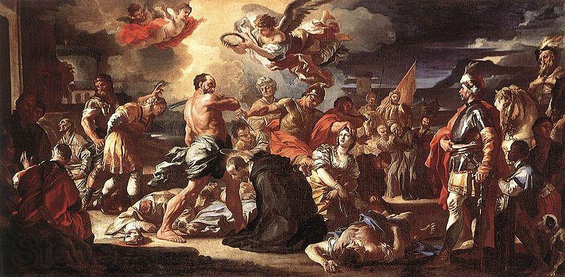 Francesco Solimena The Martyrdom of Sts Placidus and Flavia