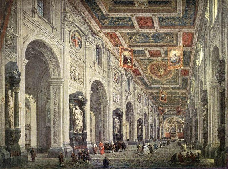 Giovanni Paolo Pannini Interior of the San Giovanni in Laterano in Rome