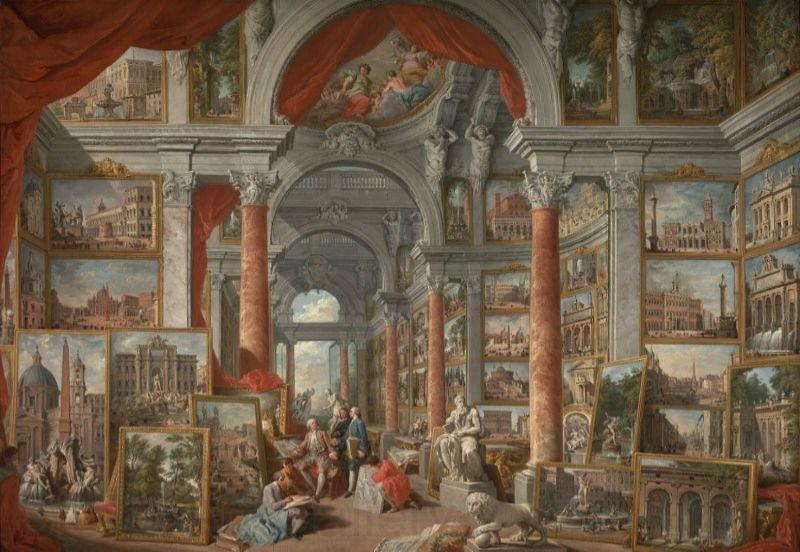Giovanni Paolo Pannini Picture Gallery with Views of Modern Rome