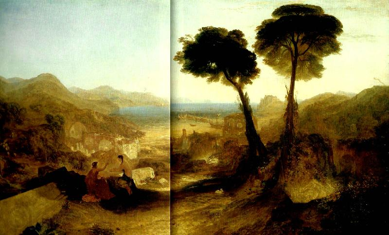 J.M.W.Turner the bay of baiae with appllo and the sibyl