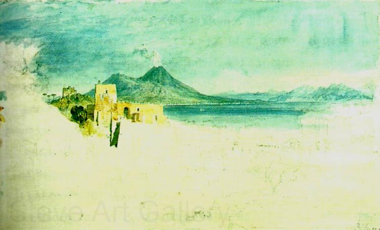 J.M.W.Turner view of naples in the distance