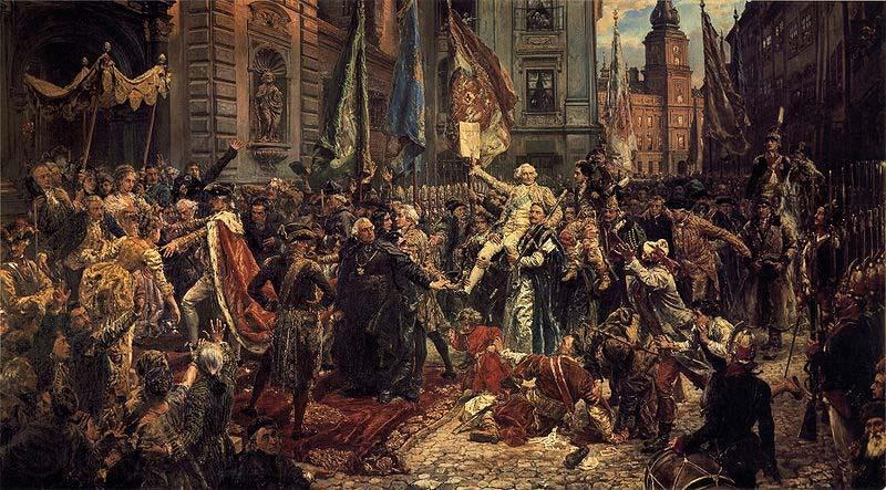 Jan Matejko Adoption of the Polish Constitution of May 3