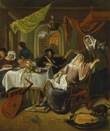 Jan Steen The Dissolute Household