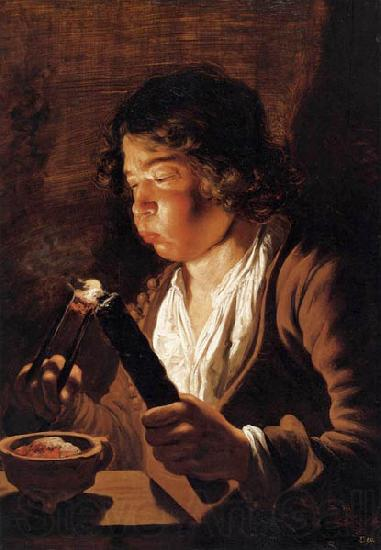 Jan lievens Fire and Childhood