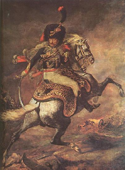 Jean Louis Voille Charging Chasseur by Theodore Gericault