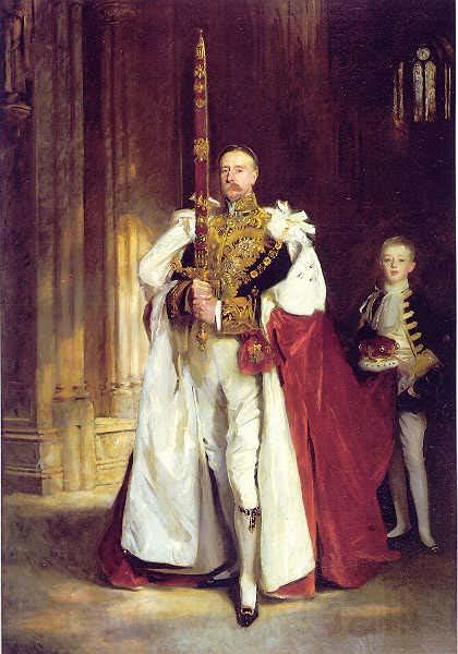 John Singer Sargent carrying the Sword of State at the coronation of Edward VII of the United Kingdom