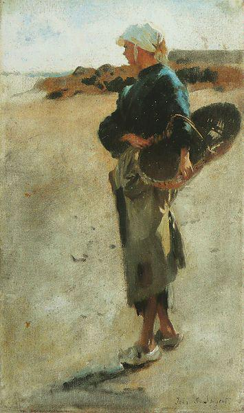 John Singer Sargent Breton Girl with a Basket