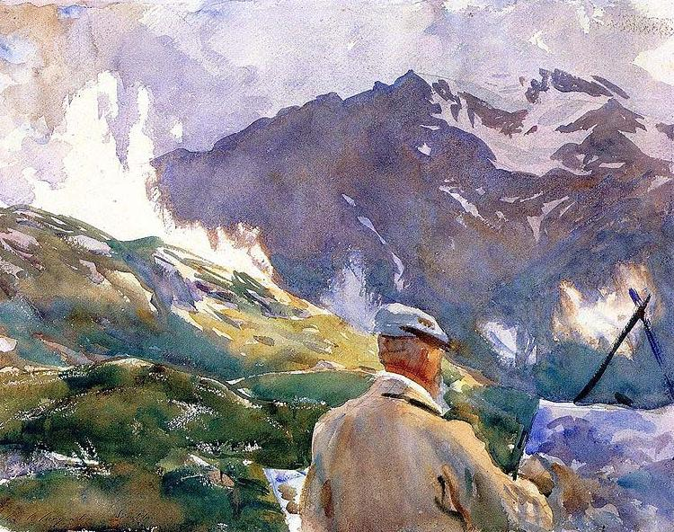 John Singer Sargent Artist in the Simplon