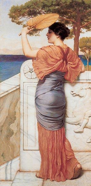 John William Godward On the Balcony