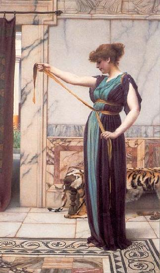 John William Godward A Pompeian Lady