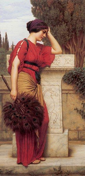 John William Godward La Pensierosa