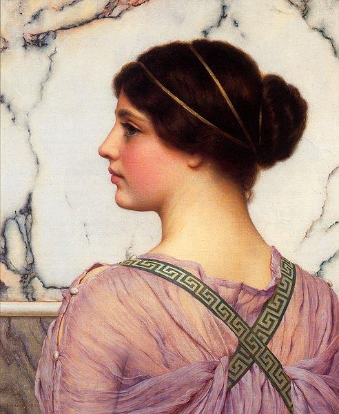 John William Godward A Grecian Lovely