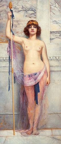 John William Godward A Priestess