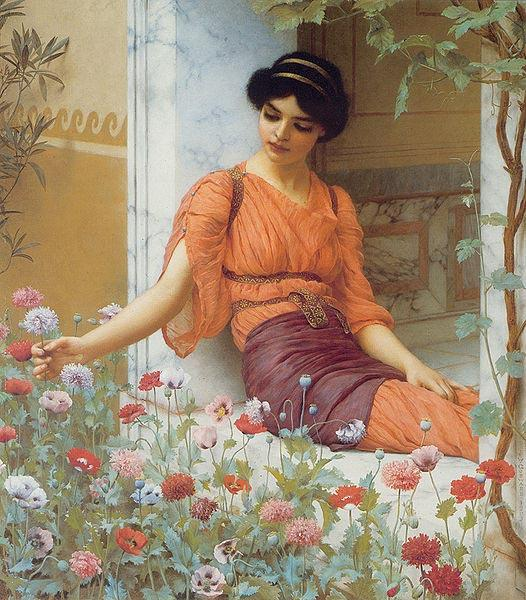John William Godward Summer Flowers