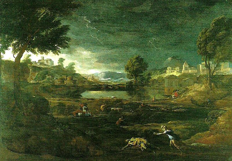 Nicolas Poussin landscape with pyramus and thisbe