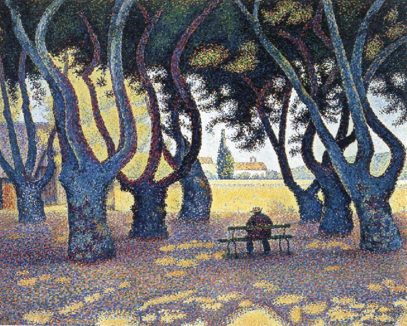 Paul Signac plane trees place des lices