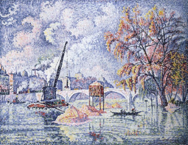 Paul Signac flood at the pont royal