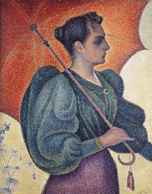 Paul Signac woman with a parasol