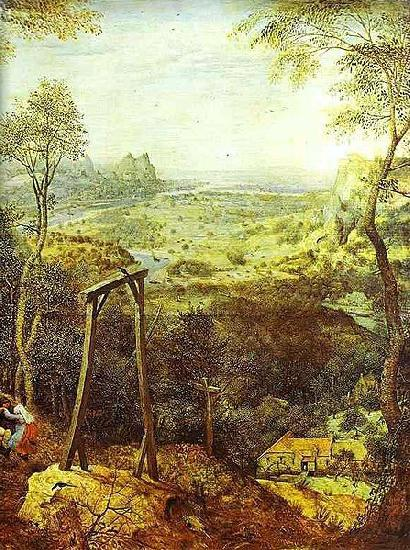 Pieter Bruegel the Elder The Magpie on the Gallows - detail