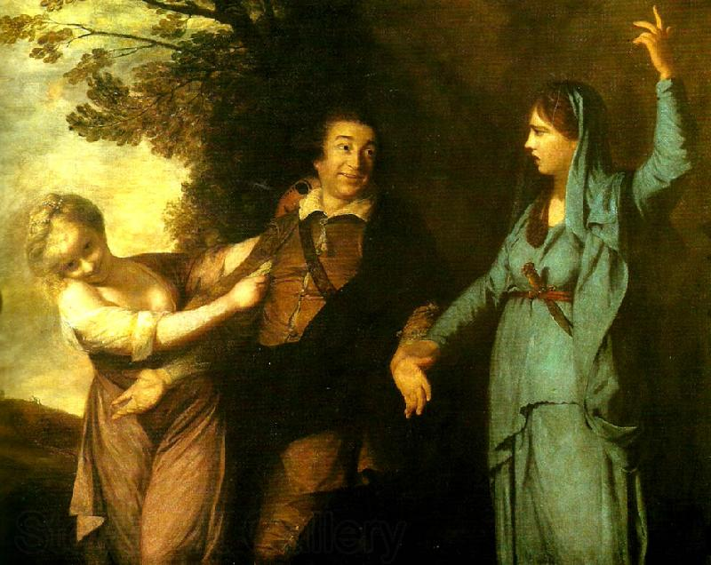 Sir Joshua Reynolds garrick between tragedy and  comedy