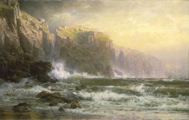 William Trost Richards The League Long Breakers Thundering on the Reef