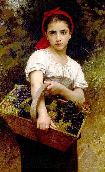Adolphe William Bouguereau Grape Picker