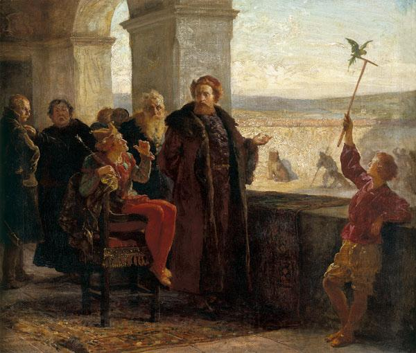 Wojciech Gerson Sigismund the Old with Staxczyk at the Wawel Castle
