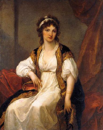 Angelica Kauffmann Portrait of Portrait of a Young Woman