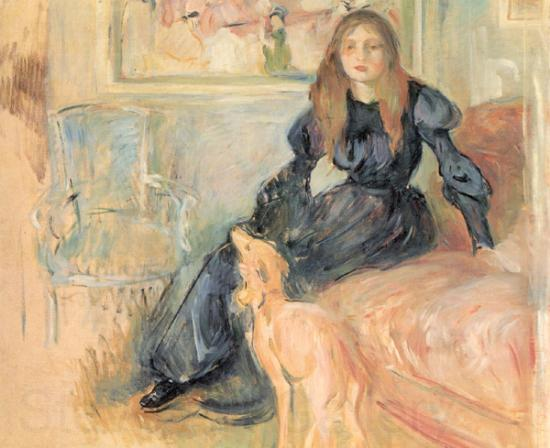Berthe Morisot Julie Manet and her Greyhound, Laertes