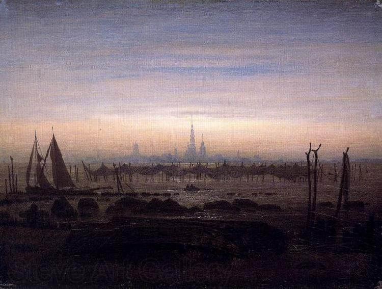 Caspar David Friedrich Greifswald in Moonlight