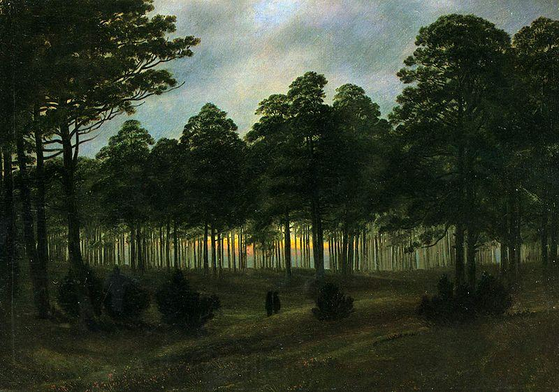 Caspar David Friedrich evening