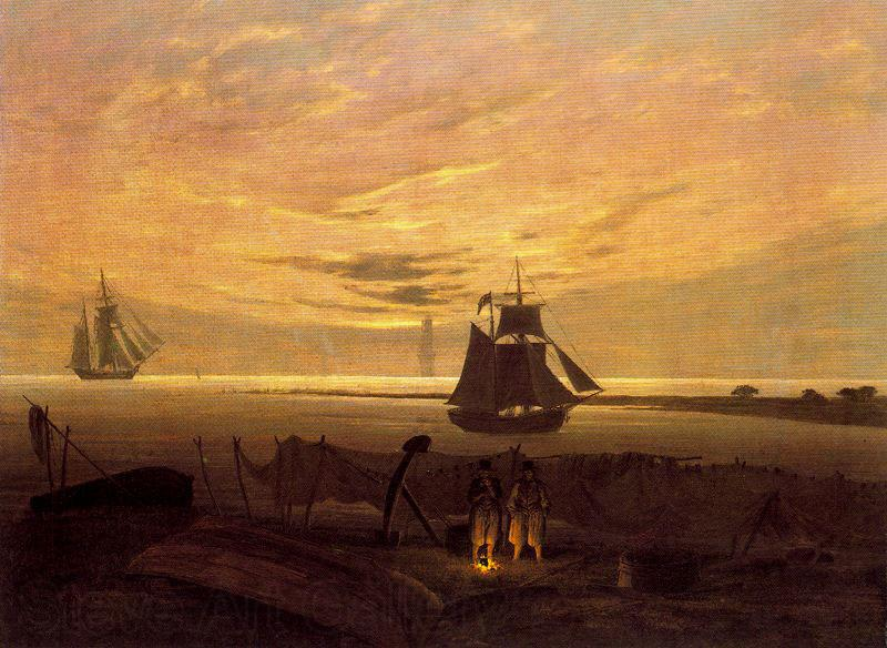 Caspar David Friedrich Evening on the Baltic Sea