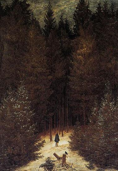 Caspar David Friedrich The Chasseur in the Forest