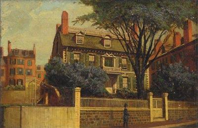 Charles Furneaux The Hancock House, oil painting by Charles Furneaux