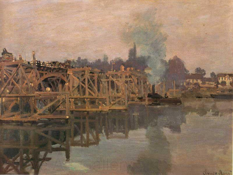 Claude Monet Argenteuil, the Bridge under Repair