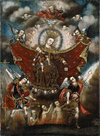Diego Quispe Tito Virgin of Carmel Saving Souls in Purgatory