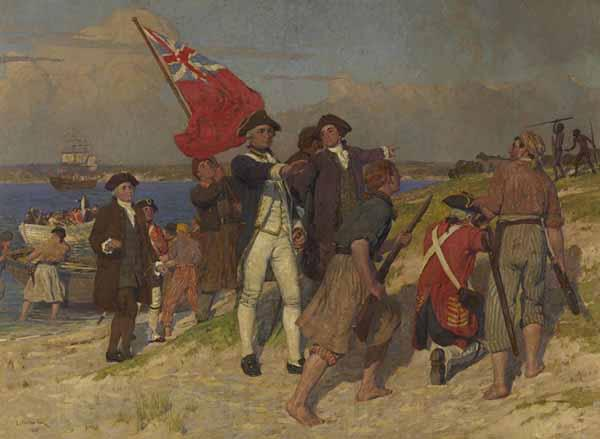 E.Phillips Fox Landing of Captain Cook at Botany Bay