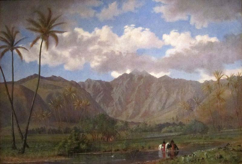 Enoch Wood Perry, Jr. Manoa Valley from Waikiki